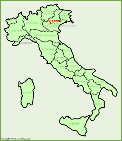Vicenza Location Map