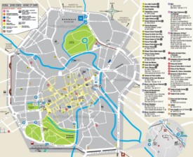 Vicenza tourist map