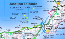 Aeolian Islands tourist map