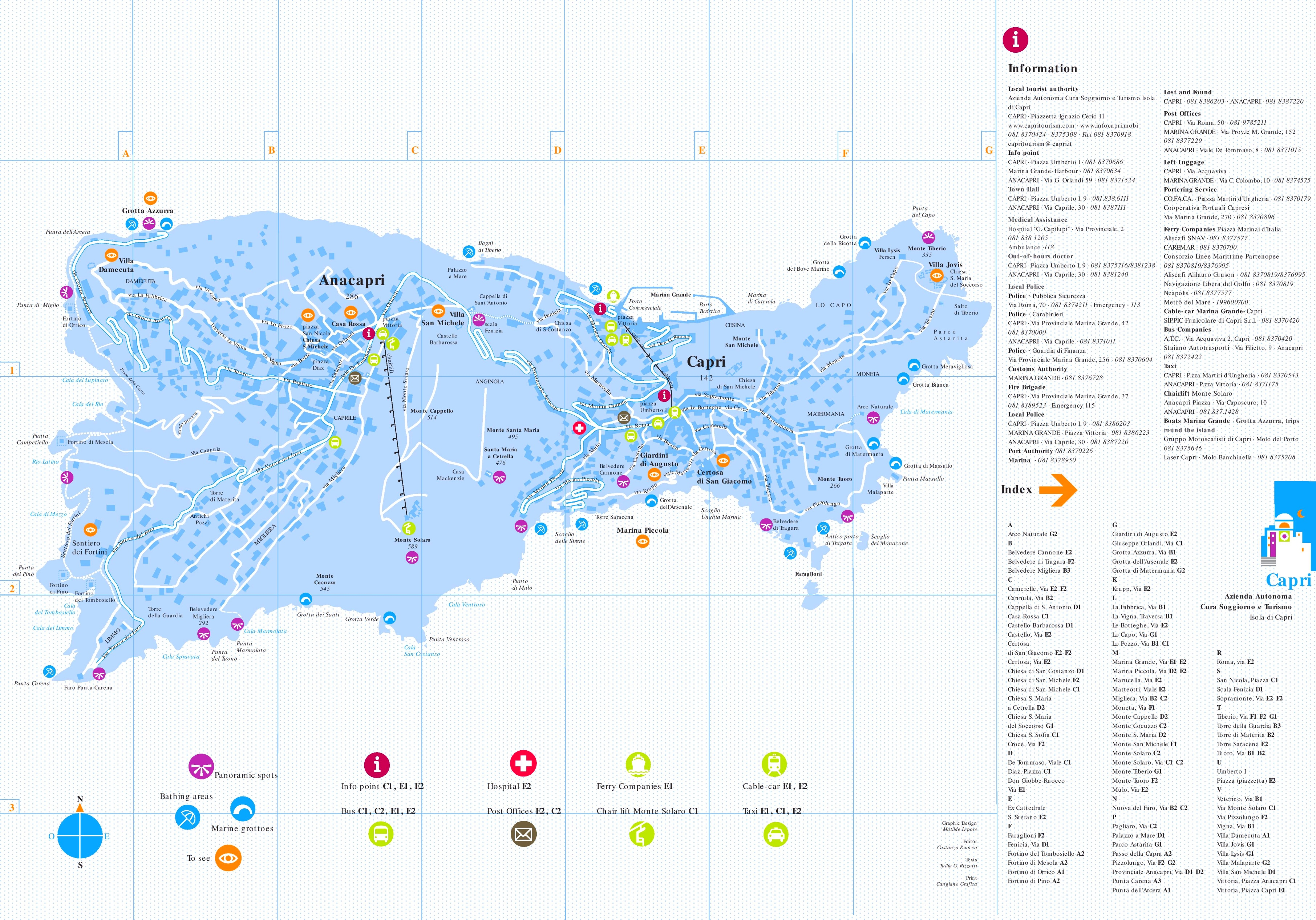 Capri Maps Italy Maps of Capri Island