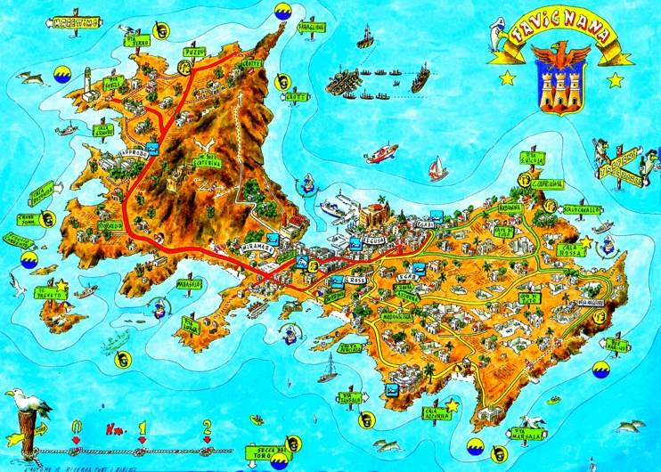 Favignana tourist map