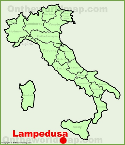 Lampedusa Location Map
