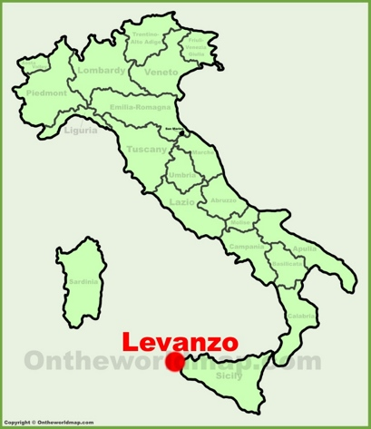 Levanzo Location Map