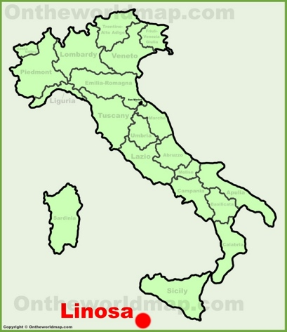 Linosa Location Map
