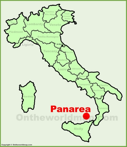 Panarea Location Map
