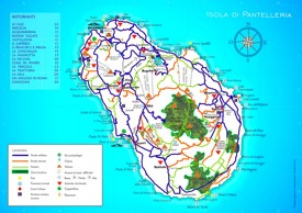 Pantelleria sightseeing map
