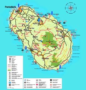 Pantelleria tourist map