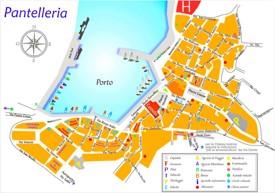 Pantelleria town map