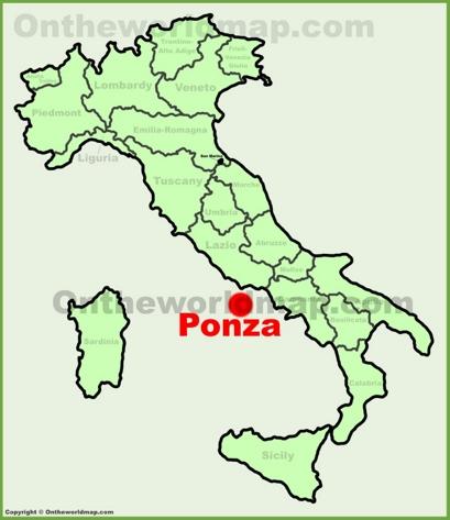 Ponza Location Map