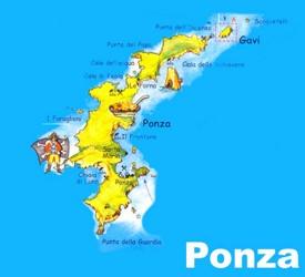 Ponza tourist map