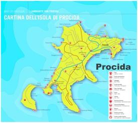 Procida sightseeing map