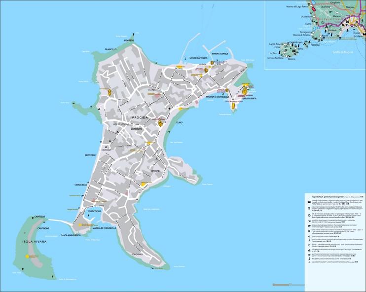 Procida tourist map