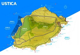 Ustica tourist map