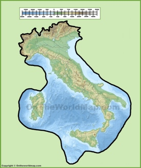Italy physical map