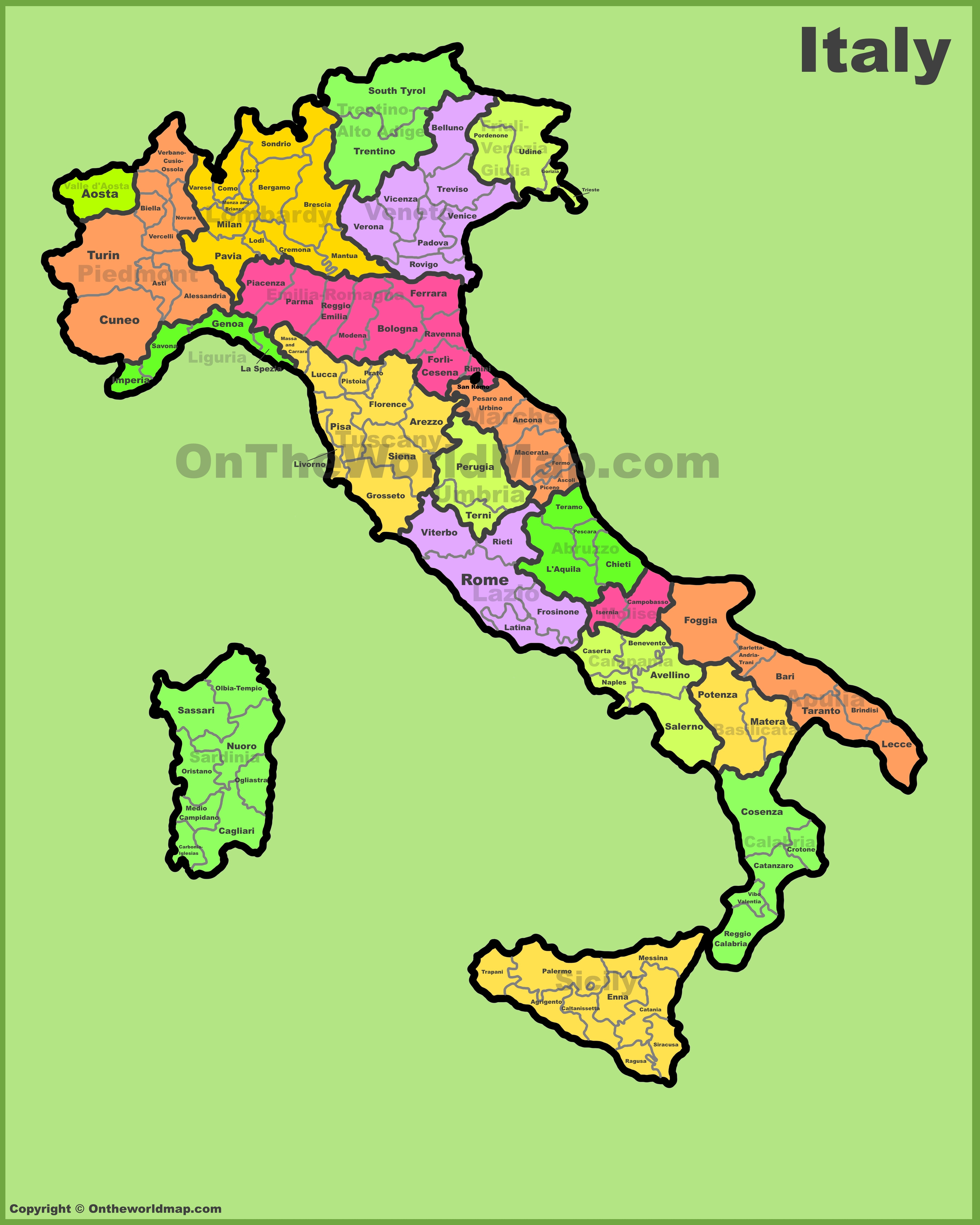 Maps Of Italy Italy provinces map Maps Of Italy