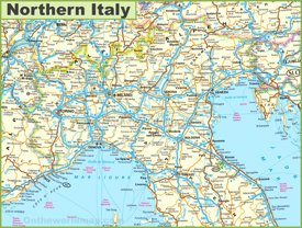 Map of Northern Italy