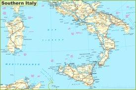 Mappa dell'Italia meridionale