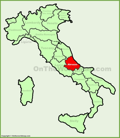 Abruzzo Location Map