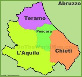 Abruzzo provinces map