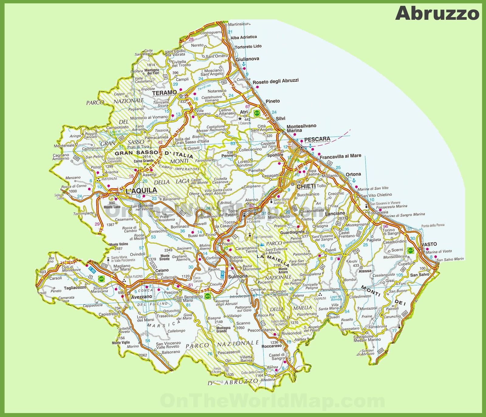 Abruzzo Maps Italy Maps of Abruzzo