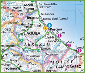 Large map of Abruzzo