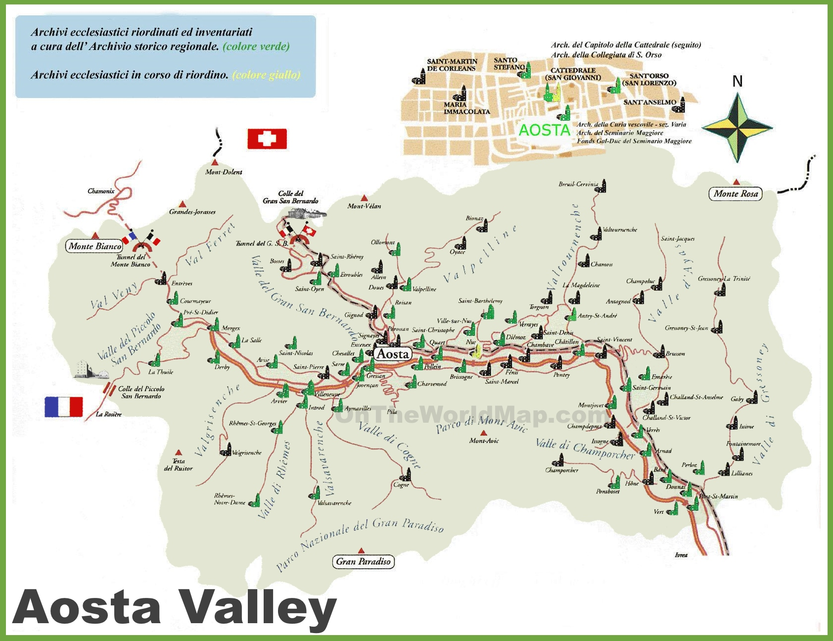 Aosta Valley tourist map