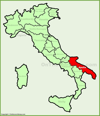 Apulia Location Map