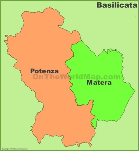 Basilicata provinces map
