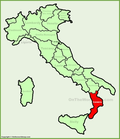 Calabria Location Map