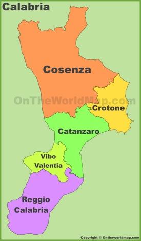 Calabria provinces map