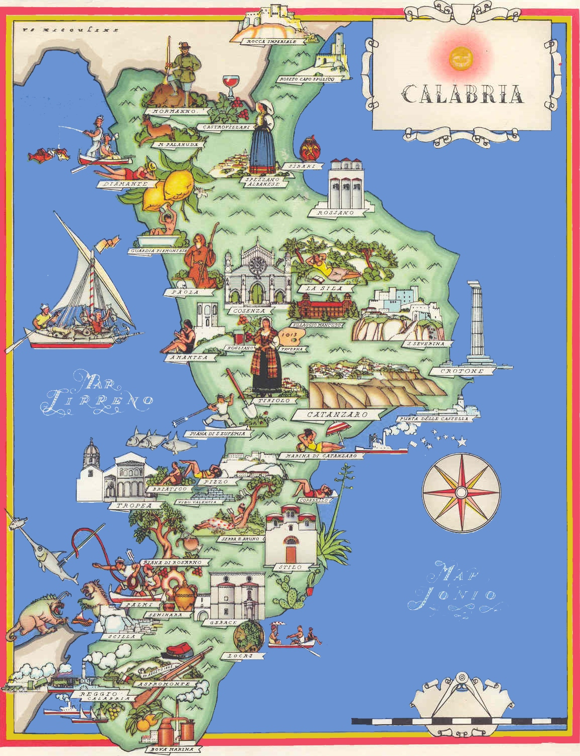 Calabria tourist map – Tourist Map Of Italy