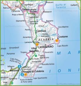 Calabria Maps Italy Maps of Calabria