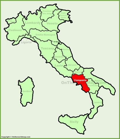 Campania Location Map