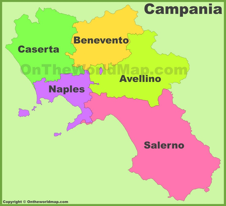 campania provinces map