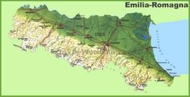 Emilia-Romagna physical map