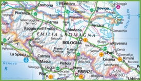 Large map of Emilia-Romagna