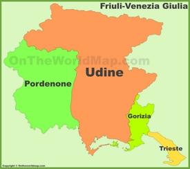 Friuli-Venezia Giulia provinces map