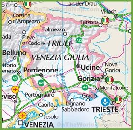 FriuliVenezia Giulia Maps Italy Maps of FriuliVenezia Giulia