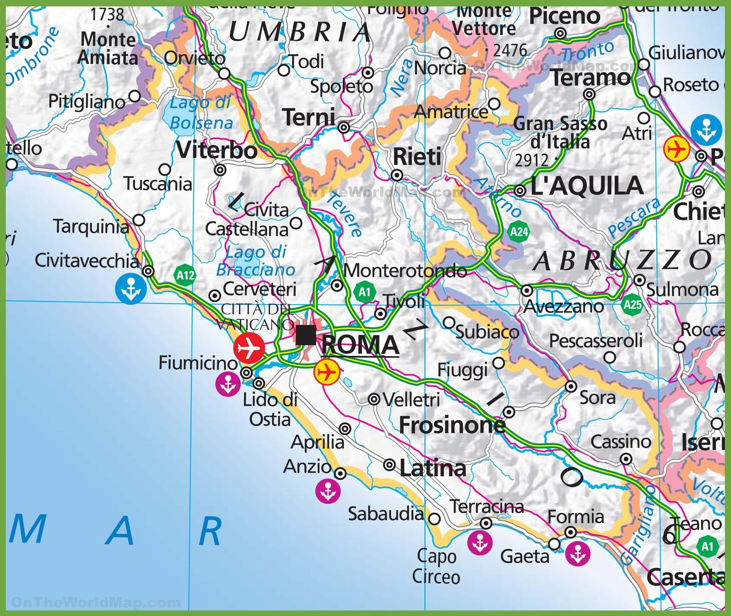 Lazio Maps Italy