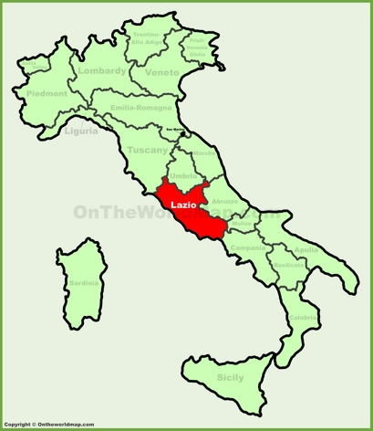 Lazio Location Map