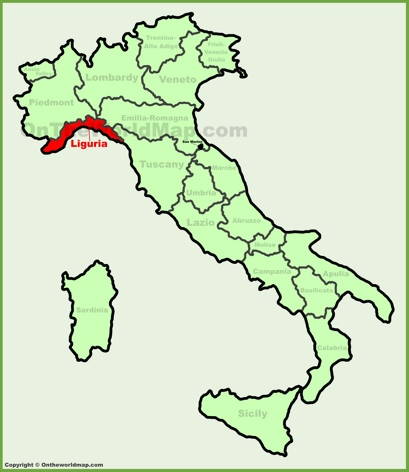 Liguria Location Map