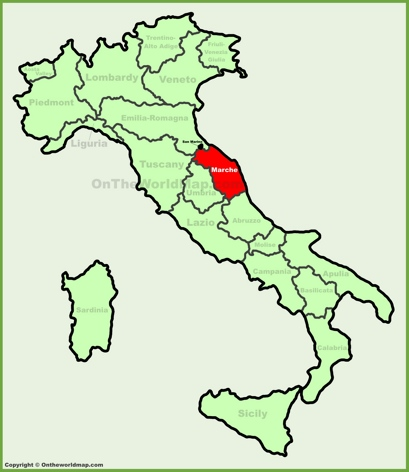 Marche Location Map