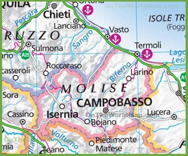 Large map of Molise