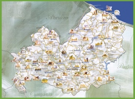 Molise tourist map
