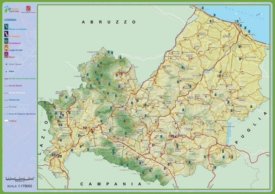 Molise travel map