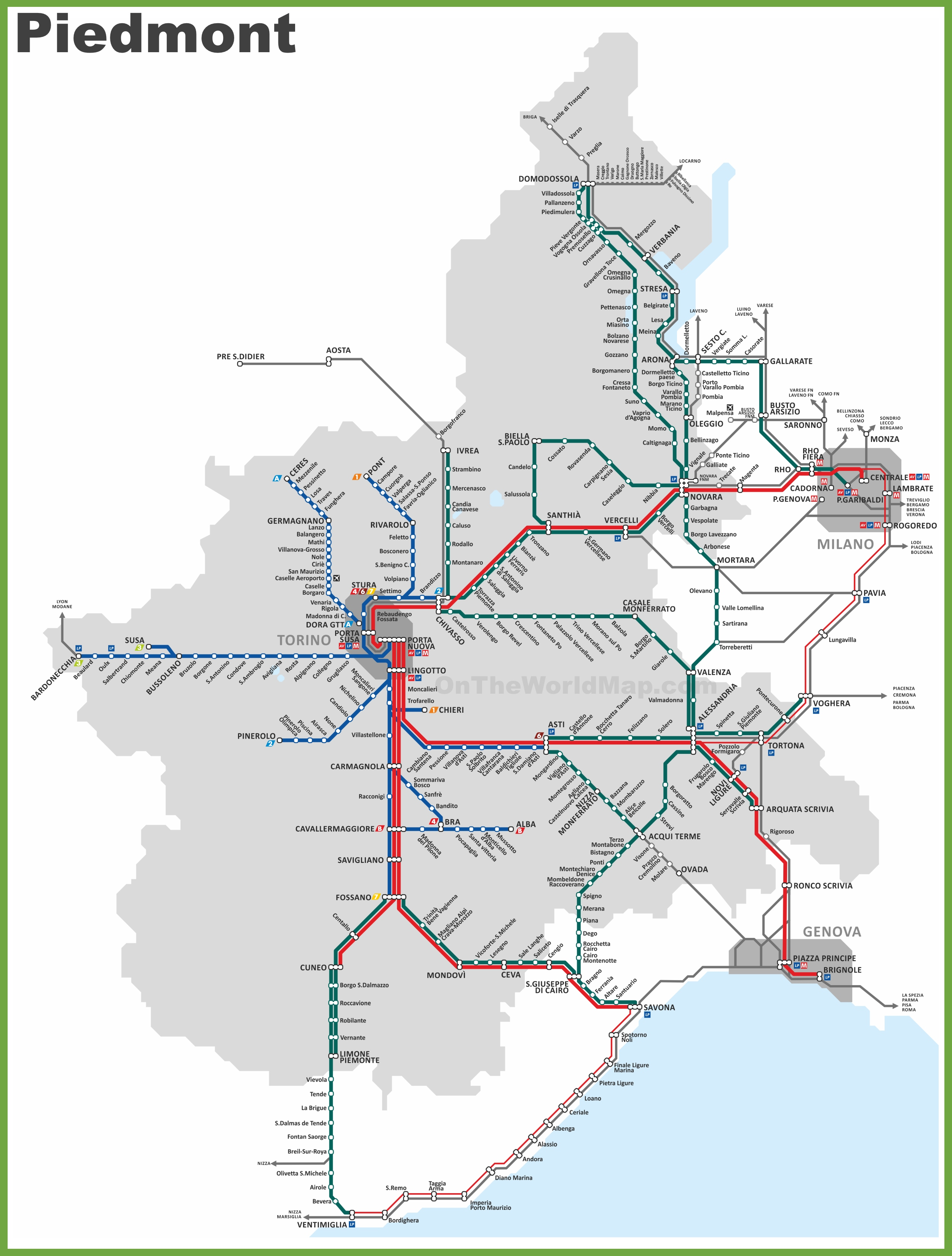 Piedmont railway map sciox Image collections