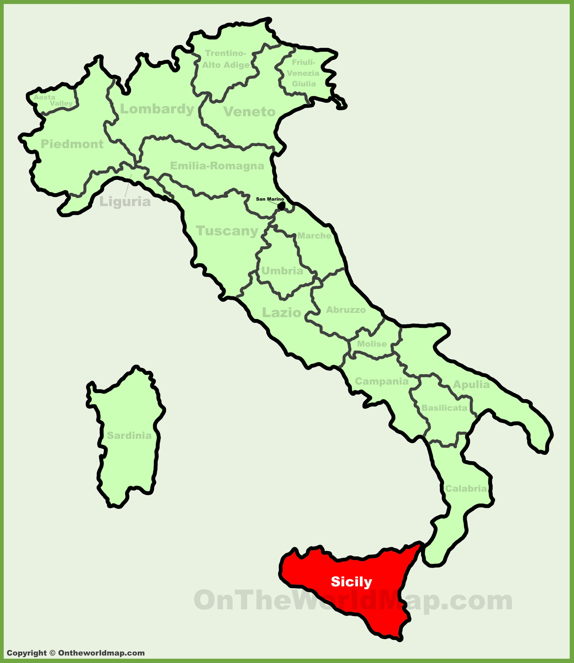 Cities In Sicily Italy Map.Sicily Maps Italy Maps Of Sicily Sicilia
