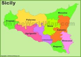 Sicily provinces map