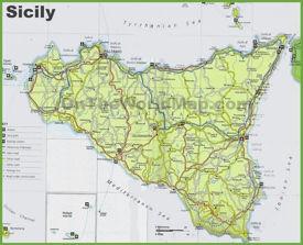Sicily road map