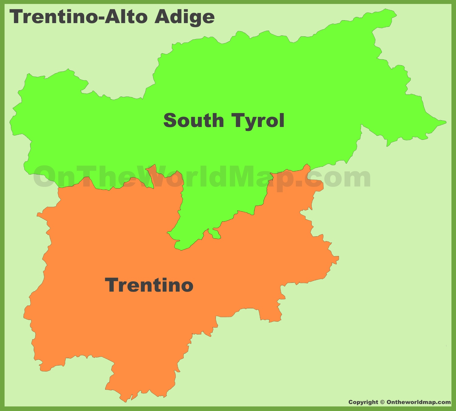 TrentinoAlto Adige provinces map
